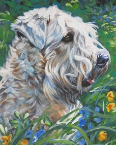 Wheaten Terrier Dog art print CANVAS print of LA by TheDogLover, $19.99