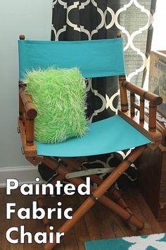 DecoArt Blog - Project - Director's Chair Refurbish