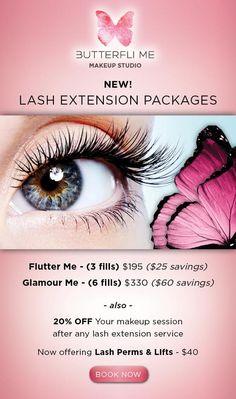 Eyelash extensions by Butterfli Me