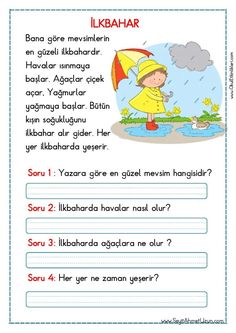 Learn Turkish Language, Learn A New Language, Turkish Lessons, Grammar Tips, Reading Passages, Stories For Kids, Foreign Languages, First Grade, Activities For Kids