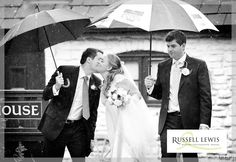 A kiss in the rain at Parkfields Country House