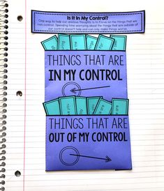 Worry And Anxiety Activities For Interactive Notebooks — Counselor Chelsey Coping Skills Activities, Anxiety Activities, Counseling Activities, Therapy Activities, Therapy Games, Play Therapy, Therapy Ideas, Classroom Activities, Family Activities