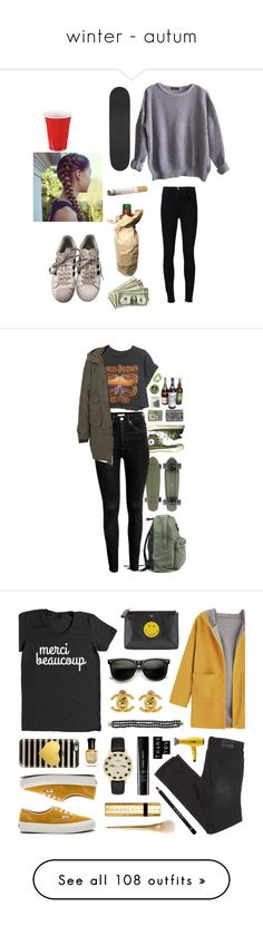 """""""winter - autum"""" by jetblackguy ❤ liked on Polyvore featuring American Apparel, adidas, Frame Denim, Converse, Harley-Davidson, Vero Moda, ZeroUV, Anya Hindmarch, Drybar and Vans"""