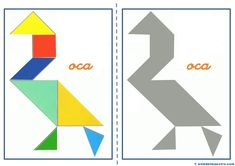 Tangram   Figuras para imprimir online Maths Day, Numicon, Busy Book, Learning Games, Math Activities, Paper Piecing, Worksheets, Origami, Symbols