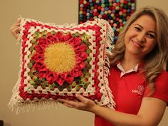 Artesanato com amor...by Lu Guimarães: Almofada floral com Barroco Decore