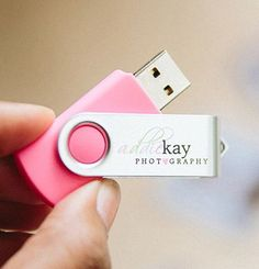 Custom USB Drives for Photography business. Minimum of 50 USB Drives per order. $255 for 50 (4GB) USB Drives. $280 for 50 (8GB) USB Drives.