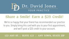 New Patient Special Dental Patient Referral Programs Dental Marketing Referral Program Dental