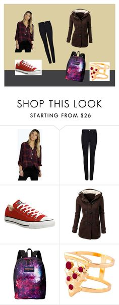 """School #2"" by rachellemh on Polyvore featuring Boohoo, Armani Jeans, Converse, JanSport, Glenda López, women's clothing, women, female, woman and misses"