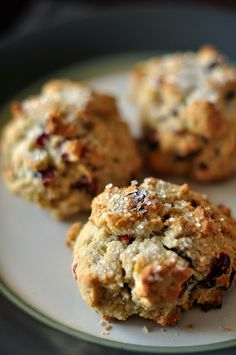Everything Reconsidered.: orange + cranberry scones -- gluten free + dairy free