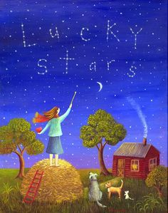 Counting her lucky stars