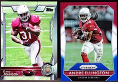 LOT OF 2 2015 ARIZONA CARDINALS JOHNSON TOPPS ROOKIE & RED WHITE BLUE ELLINGTON