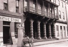 Dock Street Theater, c. back in the day. It is said that Edgar Allen Poe's mother was an actress in this theater. Many many ghosts wander those halls, or so it's said