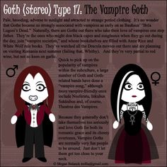 Goth Type 17: The Vampire Goth by ~Trellia on deviantART just for u guys in order learn more about this awesome subculture!