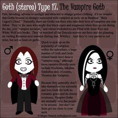 Goth Type 17: The Vampire Goth by ~Trellia on deviantART
