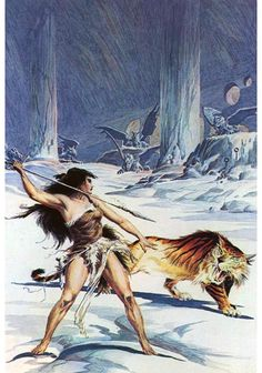 Roy Krenkel- The Cave Girl by Edgar Rice Burroughs