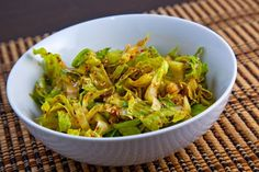 Shredded Romaine in a Korean Sesame Vinaigrette.  Great easy dressing, serve on broccoli, sugar snap peas, snow peas, edamame, or pre shredded cabbage for a quick cabbage slaw.