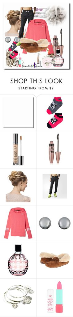 """""""Weekend"""" by schooloutfits101 on Polyvore featuring Urban Decay, Maybelline, adidas, Kenneth Jay Lane, Jimmy Choo, UGG Australia, Vera Bradley, Rimmel and livelaughlove"""