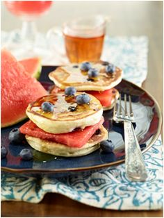 Watermelon Pancake Sandwiches Recipe #eatmorewatermelon