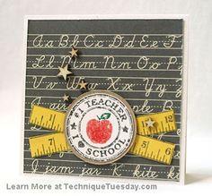 Cutesy teacher card~!