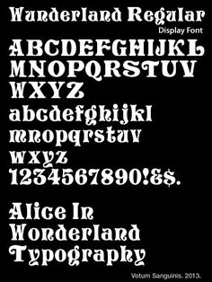 Alice in Wonderland Font Style | Alice in Wonderland font by Marco ...
