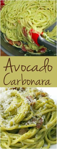 Avocado Carbonara | This Avocado Carbonara Is So Perfect For A Quick Weeknight…