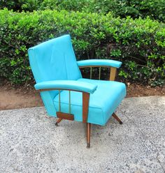 Mid Century Modern Chair Vintage Rocking by TheVintageResource