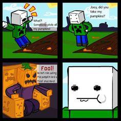 The pumkin lord...  #Minecraft #Pumpkin #Lord #Fun #lol #Geek