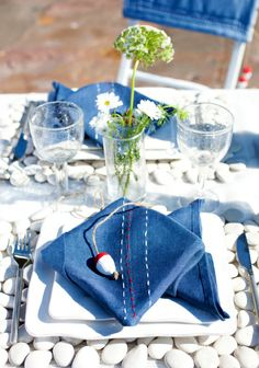 Merihenkinen kattaus SK 5-6/14. Nautical, Table Settings, Cottage, Table Decorations, How To Make, Home Decor, Navy Marine, Homemade Home Decor, Casa De Campo