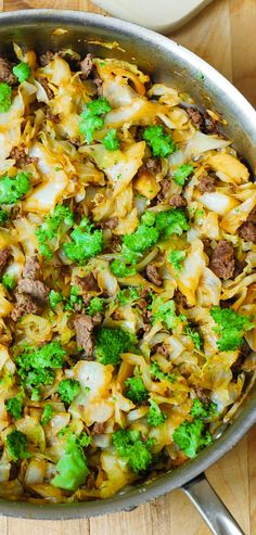 Asian Beef, Broccoli, and Cabbage Stir-Fry – so easy-to-make and healthy! Cabbage cooked until soft in a simple homemade Asian sauce! Great for dinner! I used gluten-free tamari sauce (or use gf soy sauce)