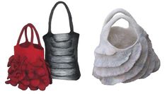 Dagmar Binder Bags In this class we will develop a unique and distinctive handbag with additional 3D elements; sculptural shapes that reach out beyond the basic form. We will calculate shrinkage, develop a template and do the wool layout around it. After completing the basic form, additional layers will be attached, partially separated from the background [...]