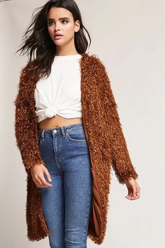 Fuzzy Open-Front Cardigan | Forever21