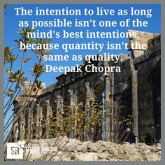 The intention to live as long as possible isn't one of the mind's best intentions because quantity isn't the same as quality. Deepak Chopra  #success #motivation #makemoneyonline #affiliatemarketing #internetmarketing #lifelonglearning #knowledge #financialeducation #homebusiness #workfromhome #onlinebusiness #businessopportunity #residualincome #financialfreedom #makemoneyonline #passiveincome #income #personaldevelopment #laptoplifestyle #timefreedom #consultant #hardworker #businessowners…