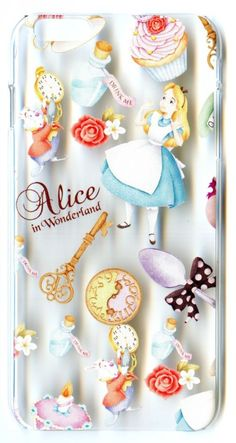 Transparent Case for iPhone 6 Plus Disney Alice in the Wonderland Clock Rabbit