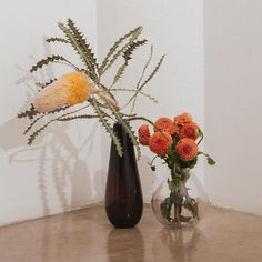 """Unique florals paired with new Samuji glassware. Shop link in bio #flowers #vase #finnish…"""""""