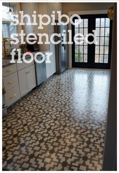 Shipibo-Stenciled-Floor - beautiful!