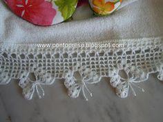 Crochet butterfly border