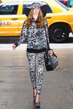 Head to toe prints at DKNY