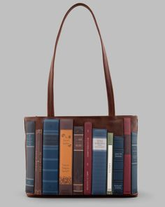 Bookworm Brown Leather Shoulder Bag