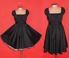 JET BLACK 40s 50s Rockabilly Swing Pin Up Dress by marmalademoon, $49.99 (this one!!)