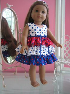 Sweet ruffled dress with coordinating panties made to by MenaBella, $19.95
