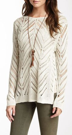 RD Style OPEN WEAVE TUNIC SWEATER