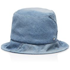 Maison Michel Fredo Denim Hat (760 785 LBP) ❤ liked on Polyvore featuring accessories, hats, blue, blue hat, maison michel, maison michel hat and denim hat