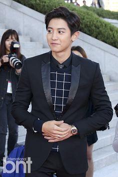 Chanyeol - 151009 2015 Korea Drama Awards, red carpet Credit: bnt news. (2015 코리아드라마어워즈)