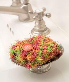 Soap Pocket Scrubby Free Crochet Pattern in Red Heart Scrubby Yarn