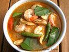 "Recipe for Thai Catfish ""Tom Kha Pladuk""! Saw Alton Brown make one on Good Eats. (pictured: Thai Prawn Soup with Lemongrass, 'Tom Yum Goong')"