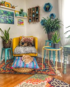 Calling all hippies! Regardless of whether you're fixated on layering materials or basically into the cost-adequacy of purchasing vintage, bohemianism — the flighty, aesthetic way of life that dates the whole distance back to the — can turn int - Diy Room Decor, Decor, House Interior, Living Room Decor, Decor Inspiration, Apartment Decor, Bohemian Living Room, Hippie Home Decor, Boho Living Room