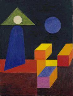 Johannes Itten (Swiss, Space Composition, II, Master who lectured on color theory at the Bauhaus. Bridget Riley Op Art, Johannes Itten, Op Art Lessons, Bauhaus Art, Art Optical, Optical Illusions, Abstract Geometric Art, Arte Sketchbook, Paul Klee