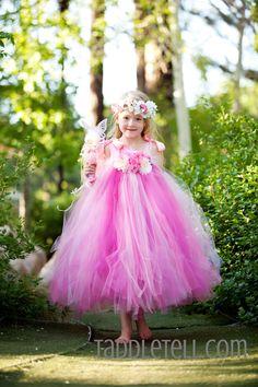 Full flower tutu dress flower princess costume!  www.taddletell.com
