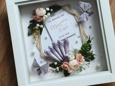ideas for origami wedding gift art Origami Wedding, Origami Box, Origami Flowers, Wedding Paper, Paper Flowers, Diy Flowers, Diy Wedding Gifts, Diy Gifts, Don D'argent