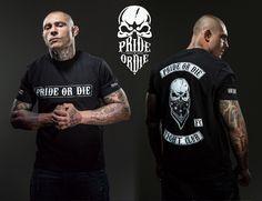 "Thiago Silva (UFC Vet./WSOF Fighter/Blackzilians) - Tshirt PRiDEorDiE ""Fight Club"" MMA / Grappling / Wrestling / BJJ / JJB / Boxe / Cross Training / Fitness / Kickboxing / Muay Thai / UFC / Bellator / Fighter / Fight / Crossfit / Skull"